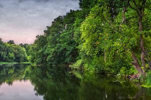 Вечер на реке Нежеголь