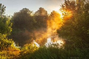 Восход над рекой Нежеголь